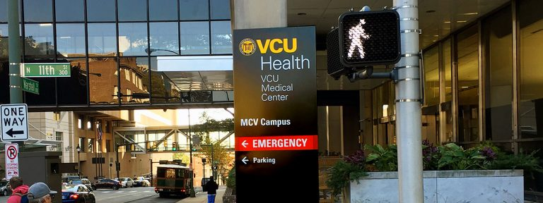 VCU Health - Wayfinding signs